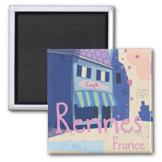 Imã Desenhos animados do vintage de Rennes France