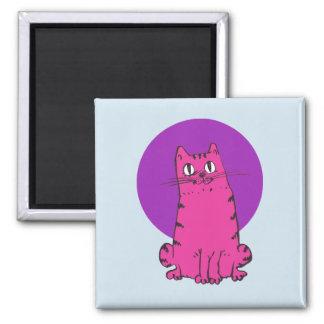 Imã desenhos animados doces do gato de gato malhado