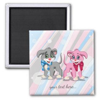 Imã Desenhos animados dos filhotes de cachorro do