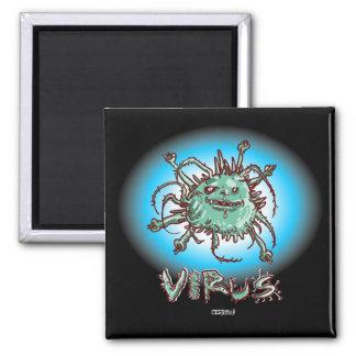 Imã desenhos animados engraçados do vírus feio