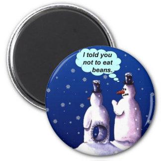 Imã Desenhos animados engraçados dos bonecos de neve