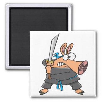 Imã desenhos animados leitães do porco parvo engraçado
