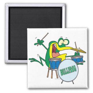 Imã desenhos animados parvos engraçados do baterista
