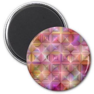Imã Design colorido do diamante do arco-íris