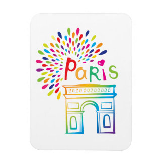 Ímã Design de néon de Paris France | Arco do Triunfo |