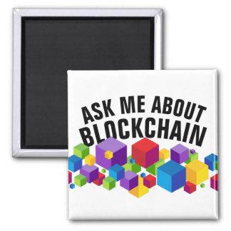 Imã Design do cubo de Blockchain
