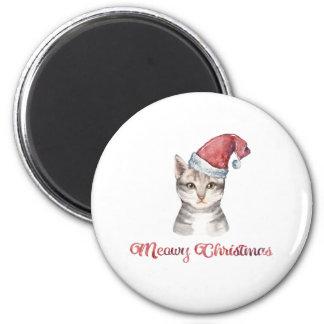 Imã Design do Natal de Meowy para amantes do gato
