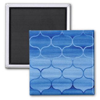 Imã Design geométrico azul pintado de Ogee