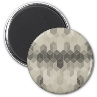 Imã Design geométrico do cubo da escala cinzenta