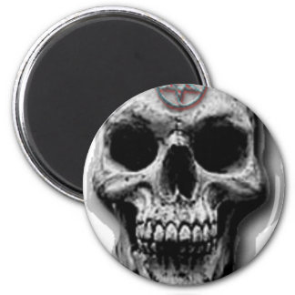Imã Design mau satânico do crânio