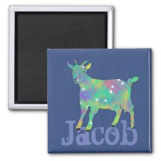 Imã Design psicadélico verde da cabra da arte com seu