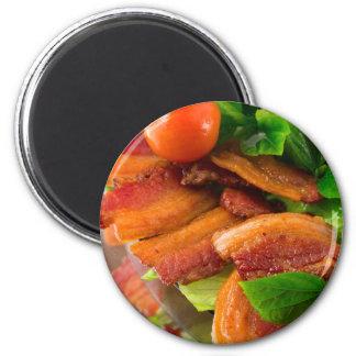 Imã Detalhe de uma placa do tomate fritado do bacon e