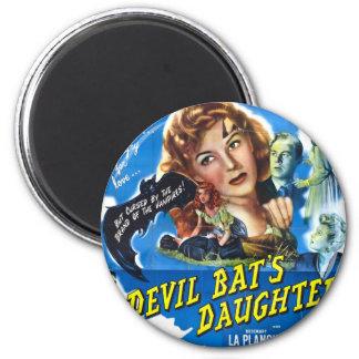 Imã Devil Bat's Daughter, vintage horror movie poster