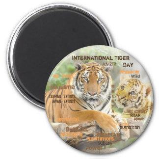 Imã Dia internacional do tigre, o 29 de julho, arte da