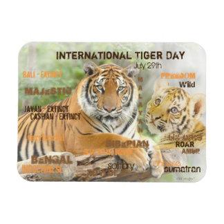 Ímã Dia internacional do tigre, o 29 de julho, arte da