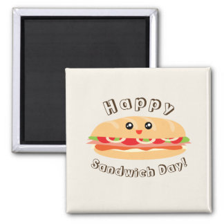 Imã Dia nacional feliz do sanduíche bonito e Kawaii
