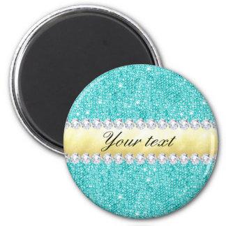 Imã Diamantes personalizados do ouro dos Sequins de
