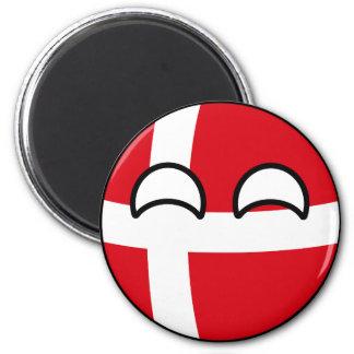 Imã Dinamarca Geeky de tensão engraçada Countryball