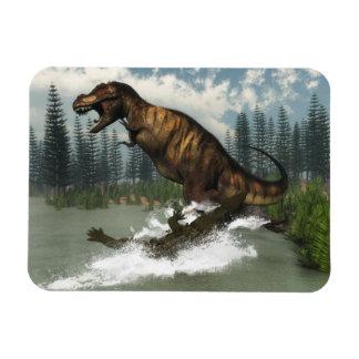 Ímã Dinossauro do rex do tiranossauro atacado pelo