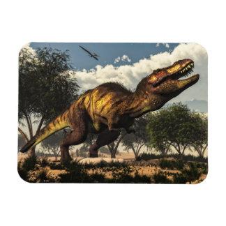 Ímã Dinossauro do rex do tiranossauro que protege seus