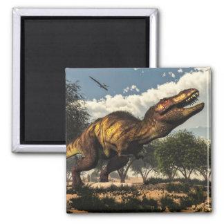 Imã Dinossauro do rex do tiranossauro que protege seus