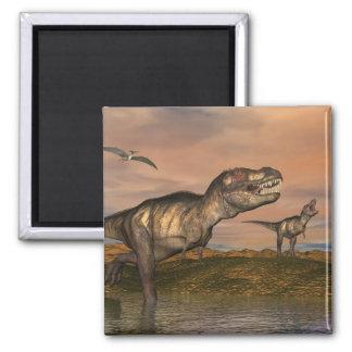 Imã Dinossauros do rex do tiranossauro - 3D rendem