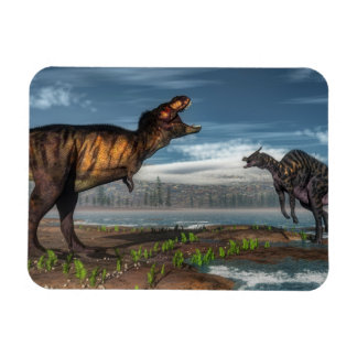 Ímã Dinossauros do rex e do saurolophus do