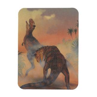 Ímã Dinossauros do vintage, Carnotaurus que ruje na