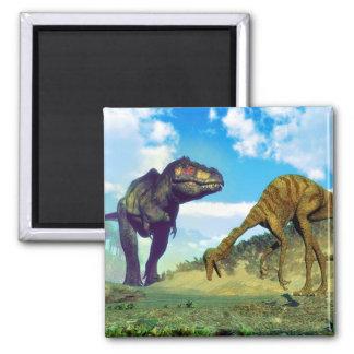 Imã Dinossauros surprising do gallimimus do rex do