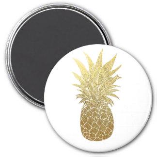 Ímã do abacaxi do ouro ímã redondo 7.62cm