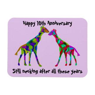 Ímã do aniversário de Luv do girafa 10o