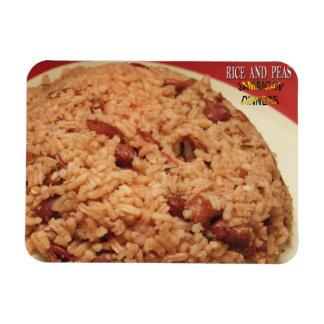 Ímã do arroz e do refrigerador das ervilhas