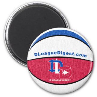 Ímã do basquetebol do resumo da D-Liga Ímã Redondo 5.08cm