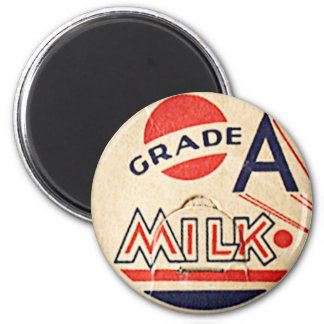Ímã do boné do leite do vintage ímã redondo 5.08cm