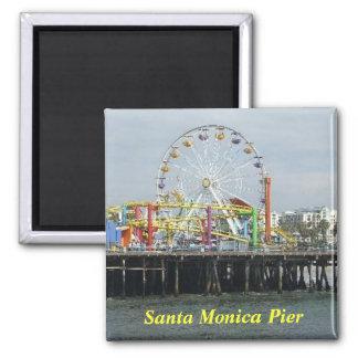 Ímã do cais de Santa Monica Ímã Quadrado