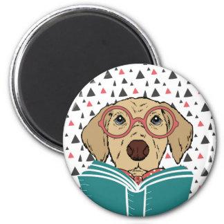 Ímã do cão da leitura ímã redondo 5.08cm