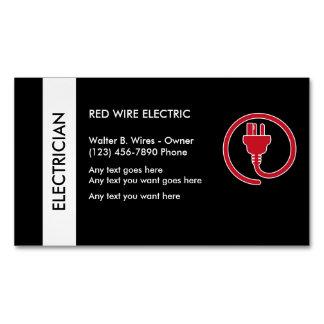 Ímã do cartão de visita do eletricista