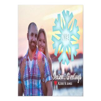 Ímã do cartão do feriado da foto - floco de neve