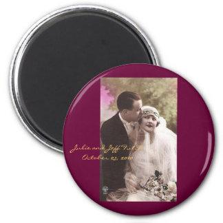 ímã do casamento da foto do vintage ímã redondo 5.08cm