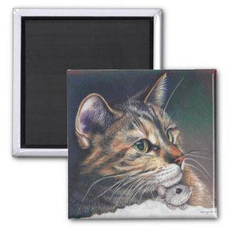 ímã do gato e do rato ímã quadrado