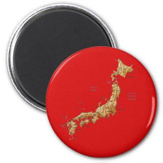 Ímã do mapa de Japão Imã De Geladeira