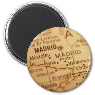 Ímã do mapa do vintage de Madrid Imas De Geladeira