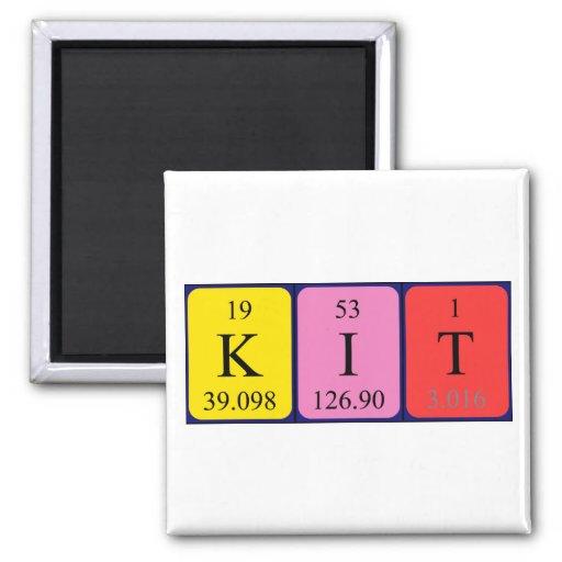 Ímã do nome da mesa periódica do jogo ima de geladeira