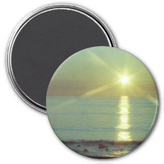 """Imã Do """"oceano"""" 3"""" por do sol ímã redondo"""