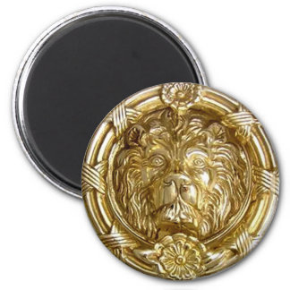 Ímã do ouro do leão ímã redondo 5.08cm