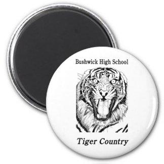 Ímã do país do tigre de BHS Ímã Redondo 5.08cm