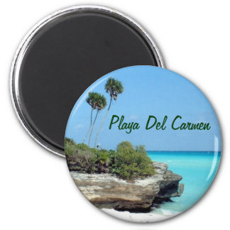 Ímã do Playa del Carmen Ímã Redondo 5.08cm