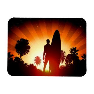 Ímã do por do sol do surfista