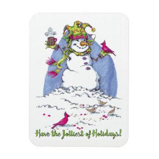 Ímã do presente do boneco de neve do feriado do
