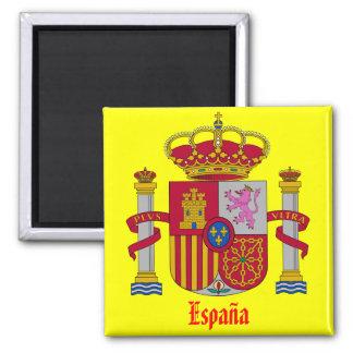 Ímã do refrigerador da brasão de Spain* Ímã Quadrado